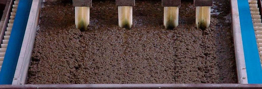 déshydratation des boues